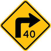 Authorized speed sign