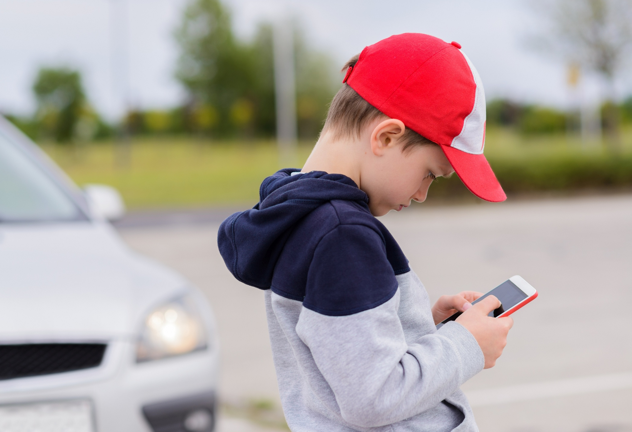 Distracted walking in school zone