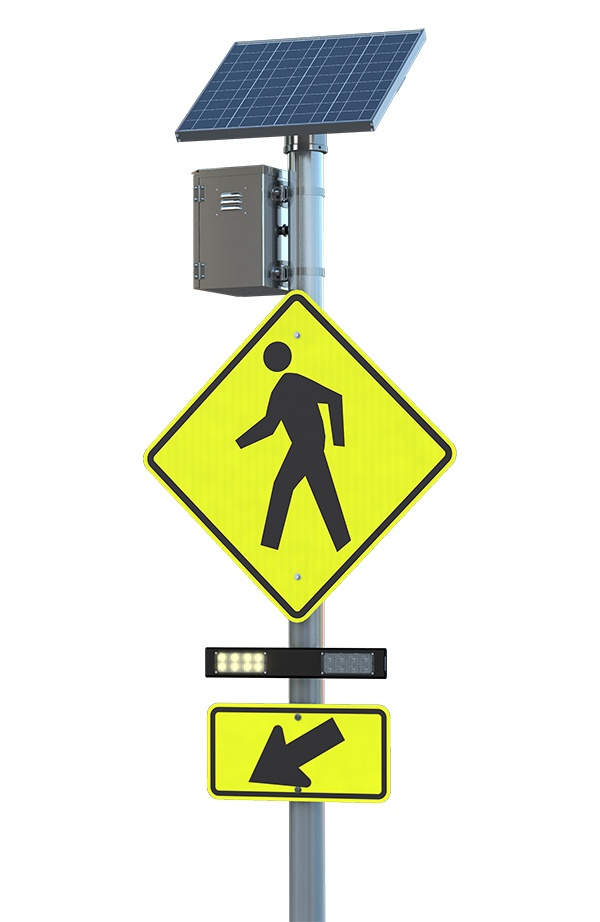 RRFB IA-21 Pedestrian Traffic Safety Crossing Solution